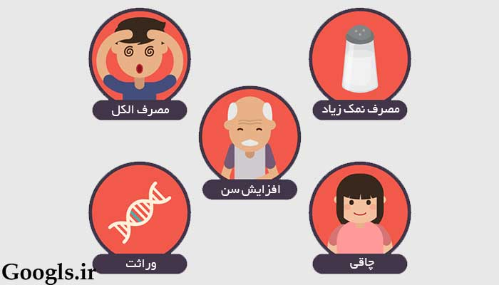 دلایل فشار خون بالا
