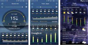 اپلیکیشن Weather forecast