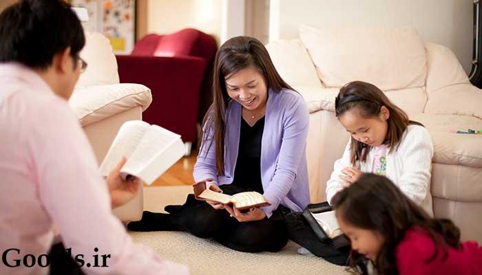 کتابخوانی کل خانواده