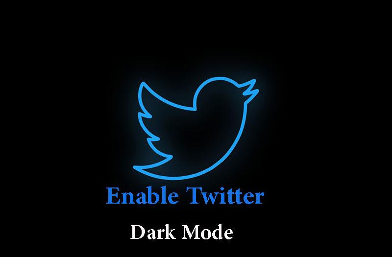 حالت تاریک در برنامه توییتر